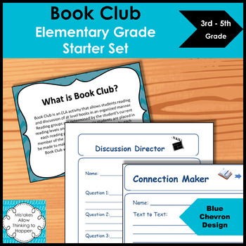 Book Club Elementary Starter Set- Blue Chevron