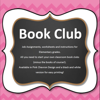 Book Club Elementary Starter Set- Pink Chevron