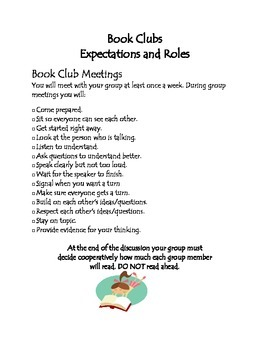 Book Club Expectations