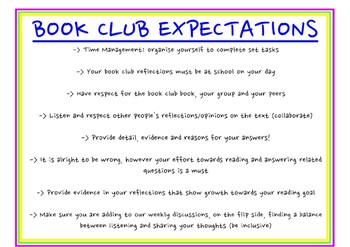 Book Club Expectations Poster