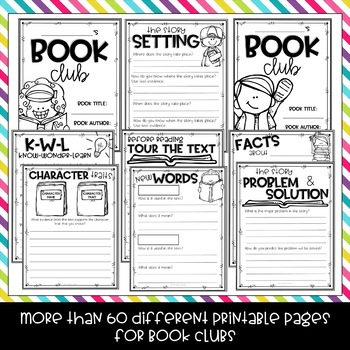 Book Club Digital and Printable Fiction and Nonfiction Bundle