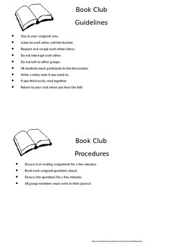 Book Club Forms