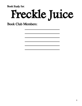 Book Club: Freckle Juice
