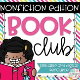 Book Club Digital and Printable Graphic Organizers for any Nonfiction Text