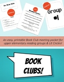 Book Club Group Packet - Printable No-Prep Reading Group Packets for Students