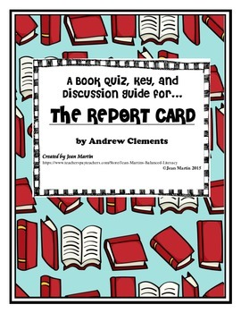 the report card by andrew clements book review Frindle by andrew clements starting at $099  the report card by andrew clements  andrew clements has written an enjoyable book.