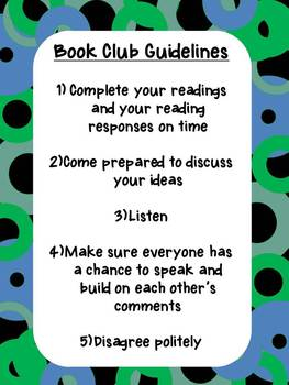 Book Club Guidelines Poster - FREE