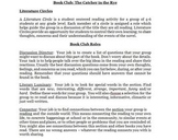 Book Club Handout with Student Roles and Weekly Assessment Tasks