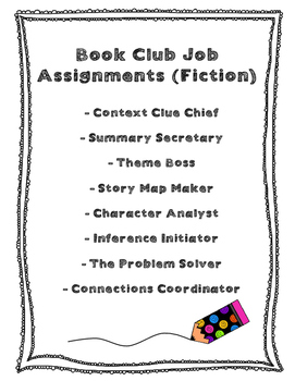 Book Club Job Assignments
