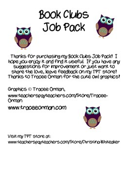 Book Club Job Pack