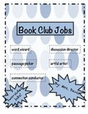 Book Club Jobs- Literacy Circle Discussion Roles