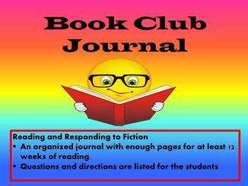 Book Club Journal with Response Questions