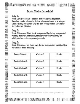 Book Club Lesson Plan Format