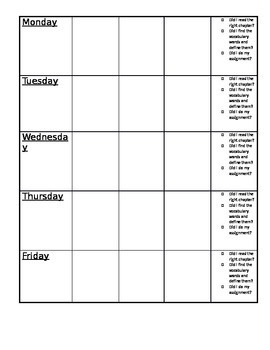 Book Club Lesson plan template