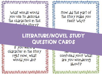 Book Club/Lit Circles Question Cards