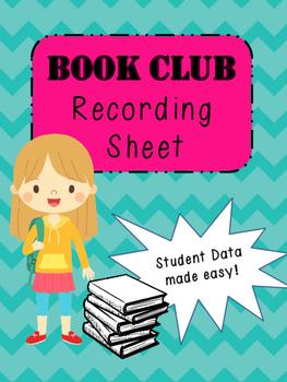 Book Club/ Lit Group Recording Sheet