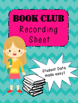 Book Club/ Lit Group Recording Sheet