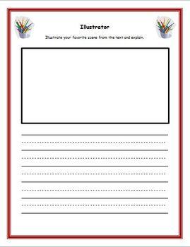 Book Club / Literacy Circle Tags and Response Sheets