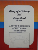 3 Activities Book Club Lesson, Lunch Bunch. Diary of a Wimpy Kid- Long Haul