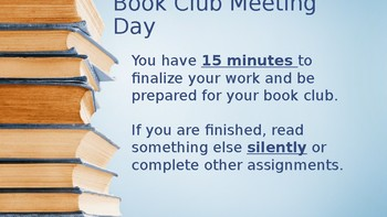 Book Club Meeting Day
