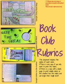 Book Club Choice Menu Rubrics