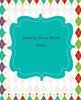 Book Club Novel Notes Packet