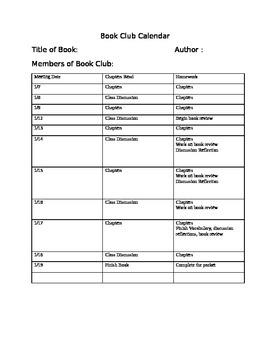 Book Club Outline