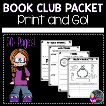 Book Club Worksheets Teaching Resources Teachers Pay Teachers