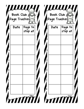 Book Club Page Tracking Book Mark