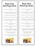 Book Club / Partner Meeting Bookmark