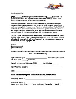 generic permission slip