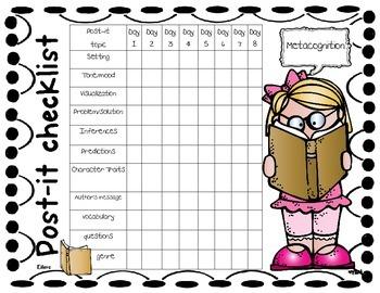 Book Club Prep Post-it Tracker