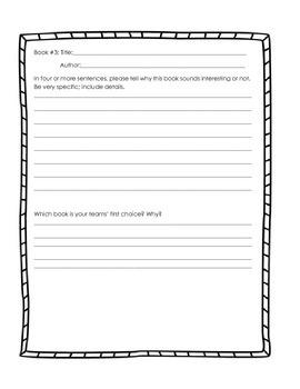 Book Club Preview Sheet