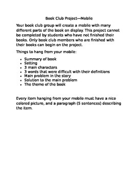 Book Club Project--Create a Mobile