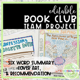 Book Club Project: Great for ANY novel & Distance Learning