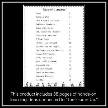 "Book Club Projects to Accompany Wendy McLeod MacKnight's ""The Frame-Up"""
