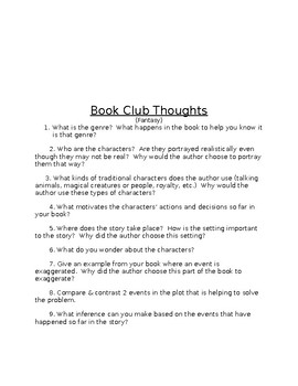 Book Club Questions by Genre