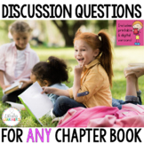 Book Club Questions for Any Chapter Book Discussion Printa