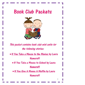 Book Club Reading Packet Laura Numeroff Books