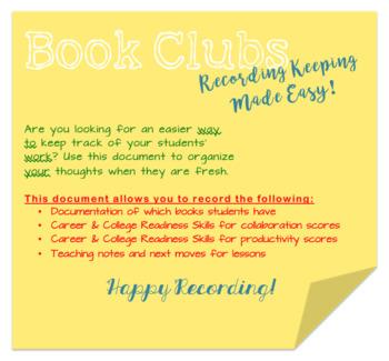 Book Club Recording Document