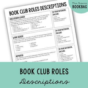 Book Club Role Descriptions