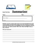 Book Club Role Sheet: Summarizer