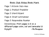 Book Club Roles Book Mark