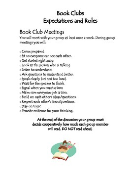 Common Core Book Clubs/Literature Circles