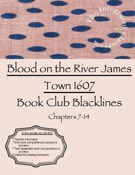 Book Club Study: Blood on the River James Town 1607 ~ Section 2 Blackline Master