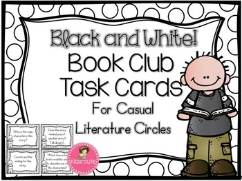 Book Club Task Cards~ {Black and White}