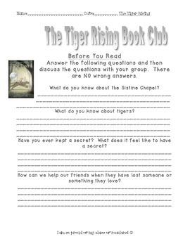 "Book Club ""The Tiger Rising"""