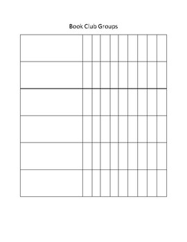 Book Club Tracking Sheet
