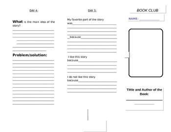 Book Club Tri-Fold ( ENGLISH )