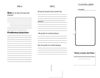Book Club Tri-Fold ( SPANISH )